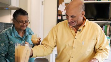 Patty and Tim Anderson enjoy healthy smoothies. After a doctor diagnosed Tim with diabetes, the couple changed their daily habits to manage the disease and live healthier.