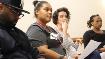 Monyia Wilson attends a Moms2B session, a program that offers education, services and support to prenatal and postnatal women in neighborhoods with high rates of infant mortality.
